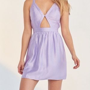 UO silence + noise purple dress cut out front